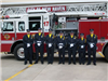 Honor Guard in Front of Fire Truck