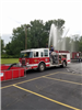 Fire Truck Expelling Water